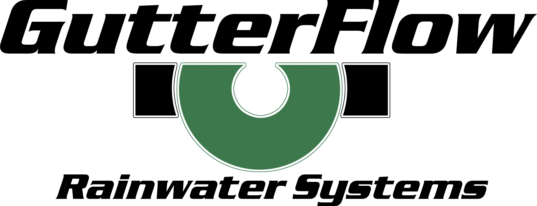 Gutter Water Flow Logo